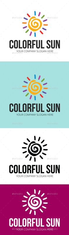 Colorful Sun - Logo Design Template Vector #logotype Download it here: http://graphicriver.net/item/colorful-sun-logo-template/10866160?s_rank=1092?ref=nesto