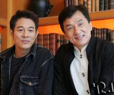 Jet Li and Jackie Chan Jackie Chan, Hapkido, Bruce Lee, Kung Fu, Actrices Hollywood, Martial Artists, Clint Eastwood, Asian Actors, Famous Faces