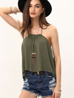 Shop Army Green Halter Neck Tube Crop Top online. SheIn offers Army Green Halter Neck Tube Crop Top & more to fit your fashionable needs.