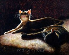 Happy Cats | Mary Gibbs Art - acrylic
