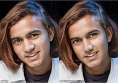 Before and after edited with Portrait Professional fast and easy portrait editing software