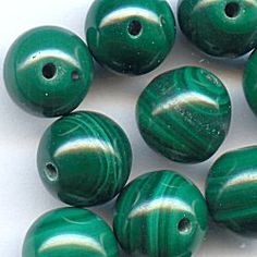 11015-8  Malachite 8mm Rounds, 10  A truly exemplary design calls for opulent Malachite gemstones.  With stunning bands of light and dark emerald green, each bead will have its own alluring presence.  These 8mm rounds make breathtaking focals and absolutely shine when mingled with sterling silver accents.