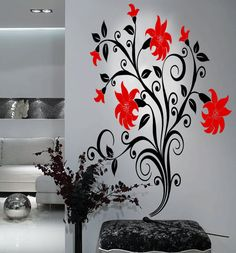 Big Tulip Flowers Vinyl Wall Art Decal by 7decals on Etsy, $44.99