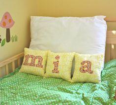 Custom Applique Letter Pillows (3 Letter Set)...Choose Your Colors & Letters. $25.50, via Etsy. | kids stuff | Pinterest | Applique Letters, Letter Pillow and …
