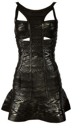 'Zoe' Black Foil Printed Bandage Dress #black #dress #goth #style