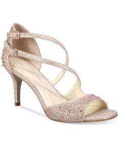 576c21a90d69b Alfani Women s Cremena Asymmetrical Evening Sandals