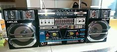 RARE 1980's BOOM BOX HELIX HX810 MINTY ULTRA NICE SEE PICS 1 OWNER  | Consumer Electronics, Portable Audio & Headphones, Portable Stereos, Boomboxes | eBay!