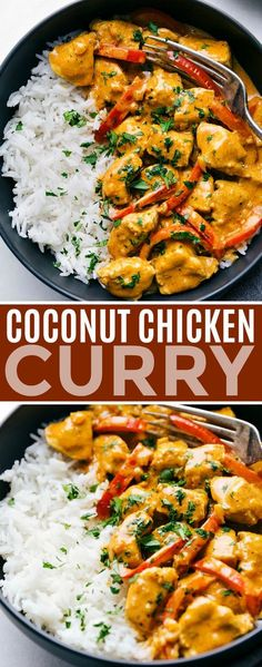 This coconut chicken curry can be made in one pot and is packed with delicious flavors! This curry can be made in 30 minutes or less making it the perfect weeknight dinner. Recipe via chelseasmessyapron dinner recipes healthy Coconut Chicken Curry Kari Ayam, Comida India, Easy Healthy Dinners, Dinner Healthy, Healthy Desserts, Health Dinner, Healthy Dinner With Chicken, Healthy Supper Ideas, Healthy One Pot Meals