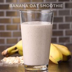 3-Ingredient Banana Oat Smoothie Recipe by Tasty