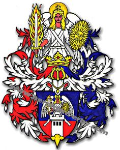 Heraldická znamení-anděl - Heraldika a genealogie, erby, znaky, vlajky, rody