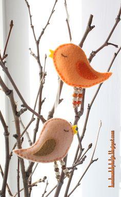 @: Felt Bird Ornaments