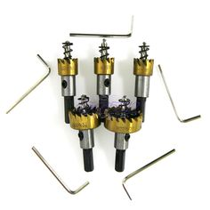 5X Drill Bit Hole Saw Set Stainless Steel Metal Alloy Twist Drill Bits Cutter