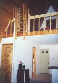 http://www.modularhomepartsandaccessories.com/atticladderoptions.php has some information on locating attic ladders that can be utilized in a modular home with an attic.