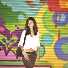 Victoria Justice, ... ... ... ... ... ... ...  @victoriajustice  ... ... ... ... ... ... Street art makes everything better:) #Williamsburg #Brooklyn