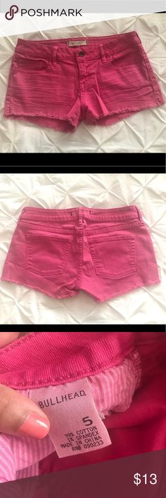 Pink Jean Shorts Bullhead (from Pacsun) // Pink Shorts // Size 5 Bullhead Shorts Jean Shorts