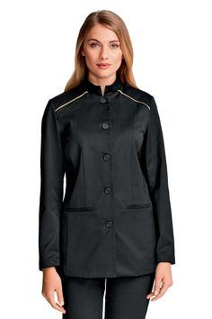 dámské banketové sako, rondon Mandarin Collar, Chef Jackets, Collars, Raincoat, Clothes For Women, Long Sleeve, Sleeves, Fashion, Rain Jacket