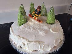 Craft Cook Love: Snowboard Birthday Cake Snowboard Cake, Birthday Cake, Cooking, Desserts, Crafts, Food, Kitchen, Tailgate Desserts, Deserts