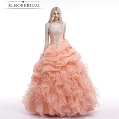 [Only $239.00] Coral Quinceanera Dresses 2017 Illusion Back Ball Gown Prom Party Dress Sweet 16 Dresses Girls Pageant Gowns Vestido 15 Anos