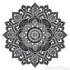Красивый индийский флористический орнамент мандалы
