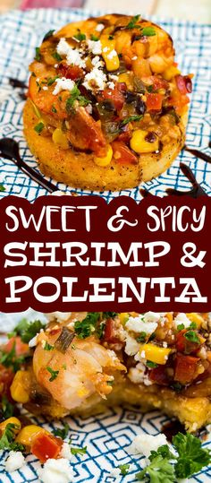 The Starving Chef Polenta Recipes, Recipe For Fried Polenta, Shrimp And Polenta, Polenta Fries, Fish Recipes, Lunch Recipes, Dinner Recipes, Shrimp Recipes, Seafood