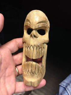 Tiki Skull Frond by tflounder on DeviantArt Awesome Woodworking Ideas, Best Woodworking Tools, Woodworking Projects For Kids, Woodworking Joints, Woodworking Workshop, Woodworking Techniques, Custom Woodworking, Woodworking Crafts, Woodworking Garage