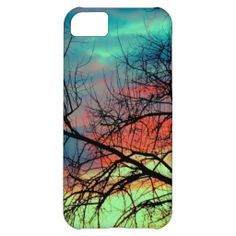 Sunrise iPhone 5/5S/5C Case #Sunset #iPhone #Case #Tree #Branches #Pretty #Beautiful #Skies