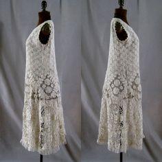 Vintage Irish Crochet Dress c.1920 Art Deco from stonehouseantiques on Ruby Lane