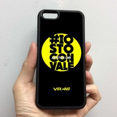 VR 46 Rossi Valentino Iostoconvale iPhone Rubber Case 4 4s 5 5s 5c 6 6s Plus Softcase Hybrid