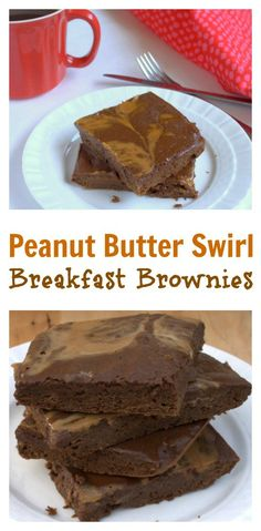 Low sugar. Packed with protein. Some fiber too: Peanut Butter Swirl Breakfast Brownies   @tspcurry