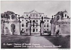 Italien - C-1866 Cartolina La Loggia - Ingresso al Castello Carpeneto proprietà Conte Rossi di Montelera (Monumento Nazionale)