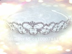 2012FREE SHIPPING - Wholesale Hight Quality Silver Plated Bridal Crystal Tiara Crown Hairl Jewelry