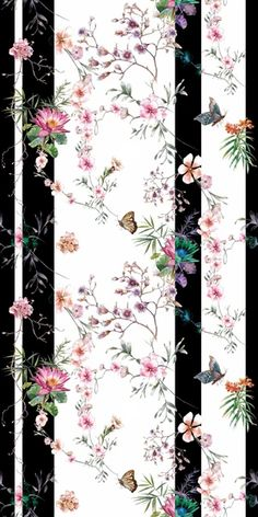 A modern butterfly wallpaper, with classical watercolour meeting funky stripes. Girls Bedroom Wallpaper, Girl Wallpaper, Disney Wallpaper, Iphone Wallpaper, Short Bob Wigs, Striped Wallpaper, Butterfly Wallpaper, Wallpaper Samples, Beautiful Butterflies