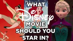 Which Disney Movie Would You Actually Star In? -- I got Cinderella.