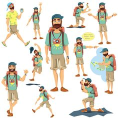 Tourist Character on Behance