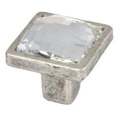 pomos swarovski plata mate tiradores herrajes mueble diseno italiano 285 comprar venta online 10047sw