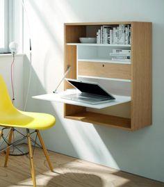 Escritorio Reex. Totalmente personalizable, este escritorio con puerta abatible te proporcionará un rincón de trabajo si tienes poco espacio.