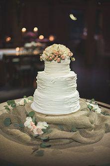 previous mint-springs-farm wedding cake- Sara + John  Love the simplicity in this cake!