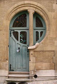 Art Nouveau doorway in Brussels