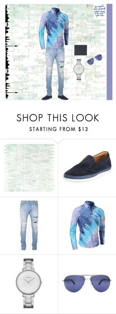 """Untitled #384"" by shinysweet ❤ liked on Polyvore featuring WALL, Tod's, Balmain, Skagen, Tom Ford, Burberry, men's fashion and menswear"