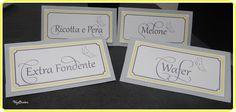 labels for sweet table wedding  etichette per confettata matrimonio
