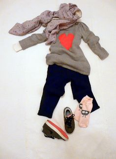 A BABY GAP HEART FOR YOU on www.fiammisday.com  outfit for kids
