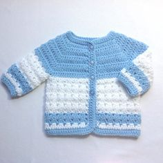Crochet baby blue coat - 0 to 3 months - Baby boy jacket - Baby girl blue sweater - Baby shower gift - Reborn doll crochet coat Crochet Baby Clothes Boy, Crochet Baby Sweaters, Crochet Baby Boots, Baby Knitting, Booties Crochet, Pull Crochet, Crochet Coat, Crochet Bebe, Crochet For Boys