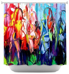 In the Company of Strangers Shower Curtain - contemporary - Shower Curtains - DiaNoche Designs