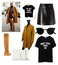 """Love this outfit "" by romina-francisca on Polyvore featuring MICHAEL Michael Kors, Zara, Cinque, Stuart Weitzman and Yves Saint Laurent"
