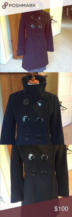 Soia and Kyo Pea Coat style coat. Soia and Kyo Pea Coat style coat. Gorgeous style and barely used as my daughter grew out of it by the next year. 80% wool 20% nylon. Reasonable offers will be considered. Soia & Kyo Jackets & Coats
