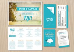 Tropical DIY printable stationery set by StationeryPolkadot