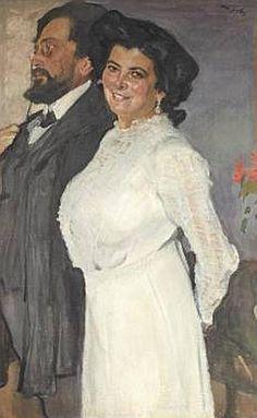 ВАЛЕНТИН СЕРОВ Портрет Оскара и Розы Грузенберг. 1910