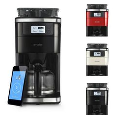 WiFi Grinder Coffee Machine Maker Smarter Compatible With iOS & Android Home Off