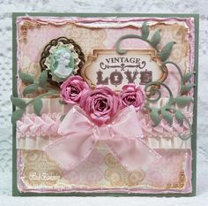 Embellished Dreams: JustRite Papercraft September New Release - Vintage Love Card