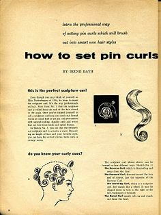 Beauty is a thing of the past: How to Set Pin Curls